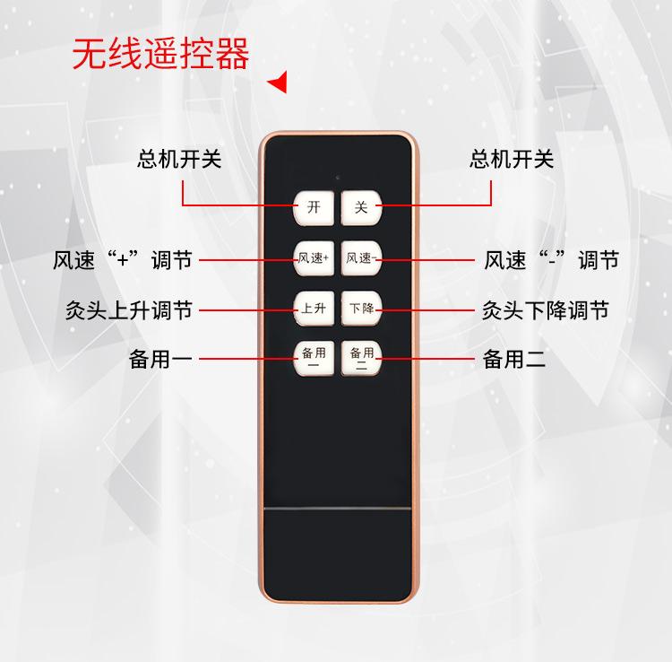 扶阳透灸仪无线遥控器展示