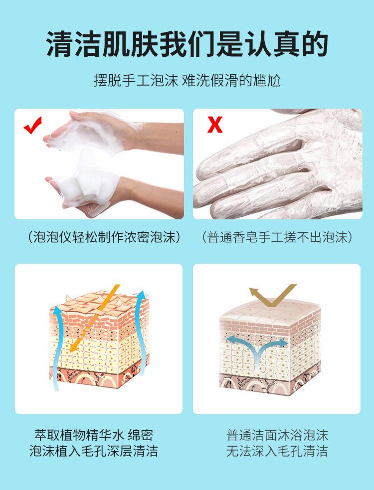 魔法泡泡与普通香皂等清洁产品对比有着许多优势
